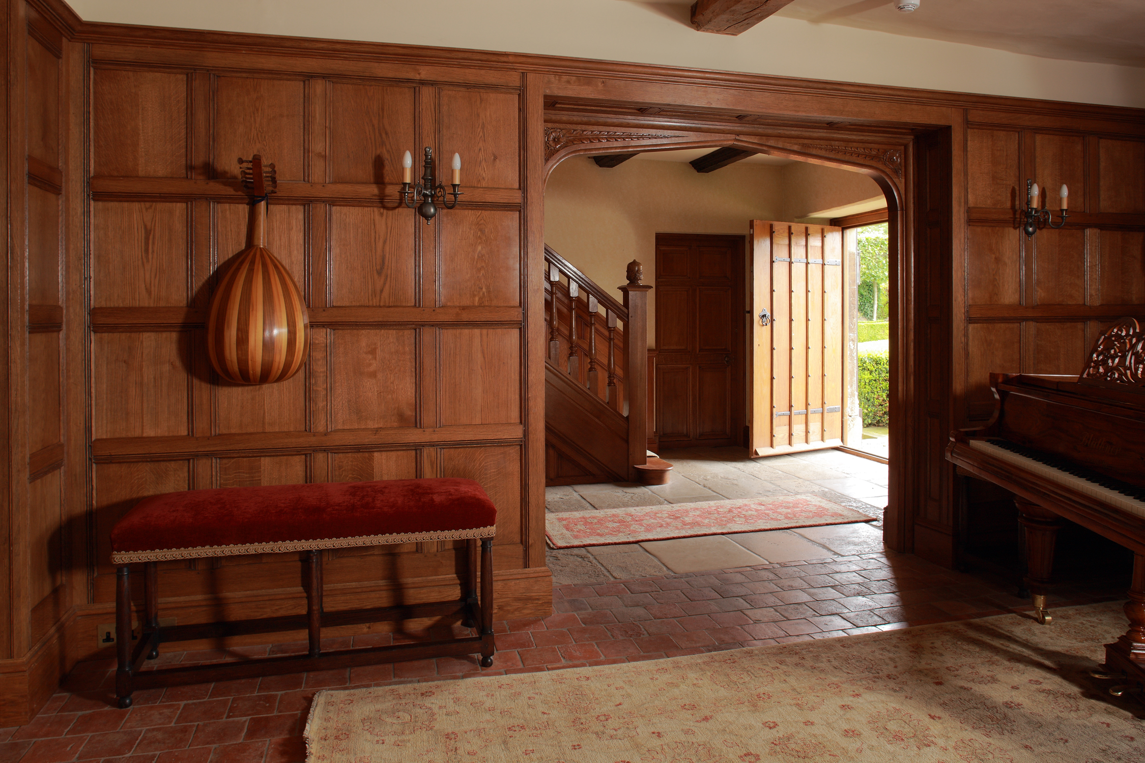 C17th style Tudor arched opening