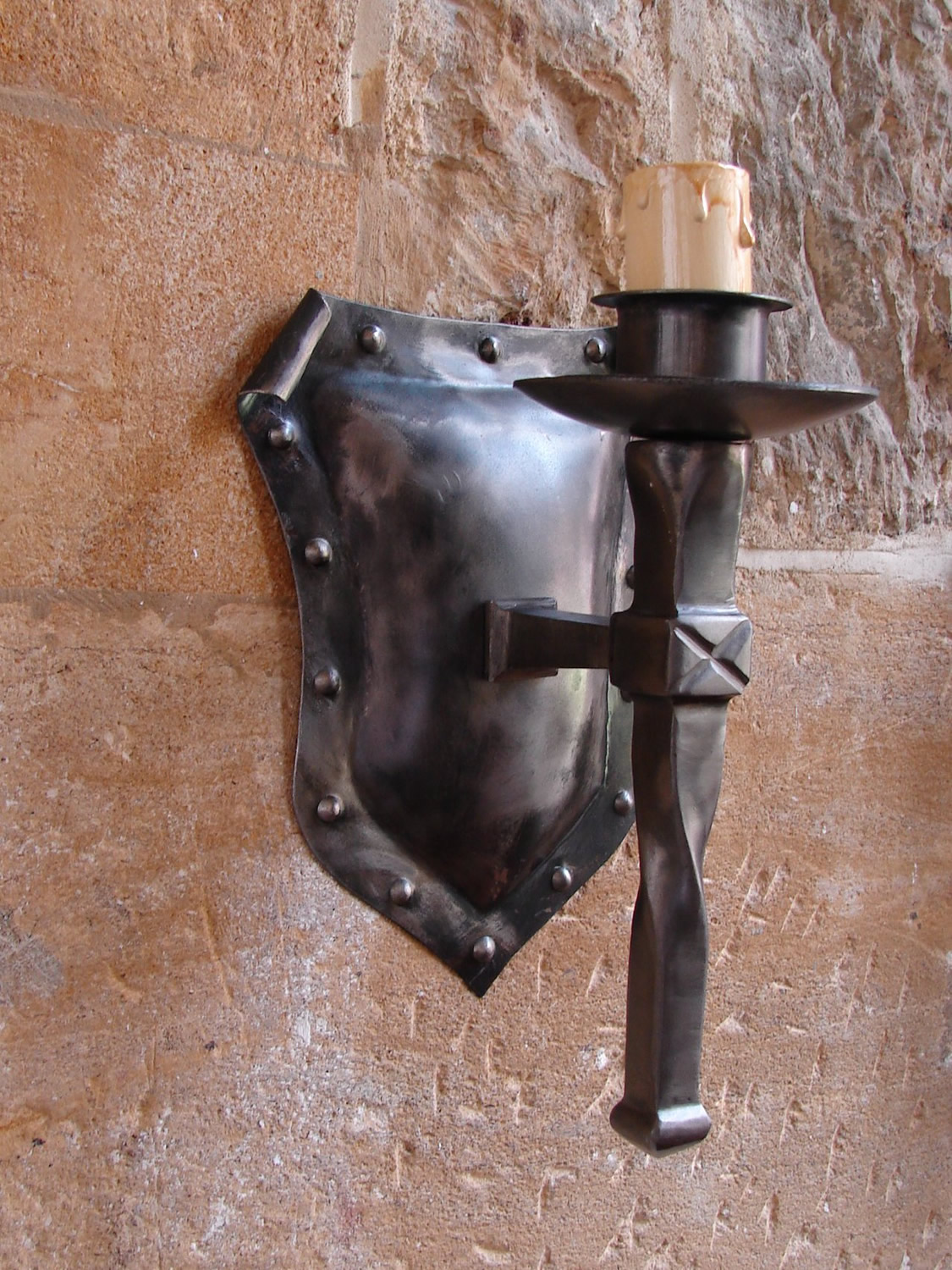 Shield Wall Light in Iron