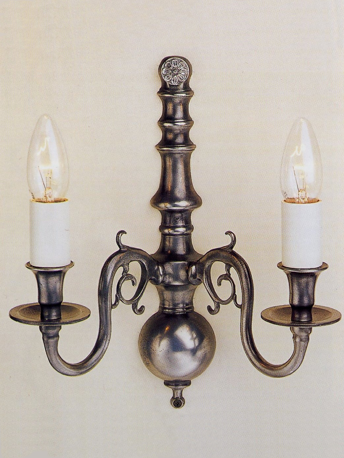 Dutch Wall Light in Pewter