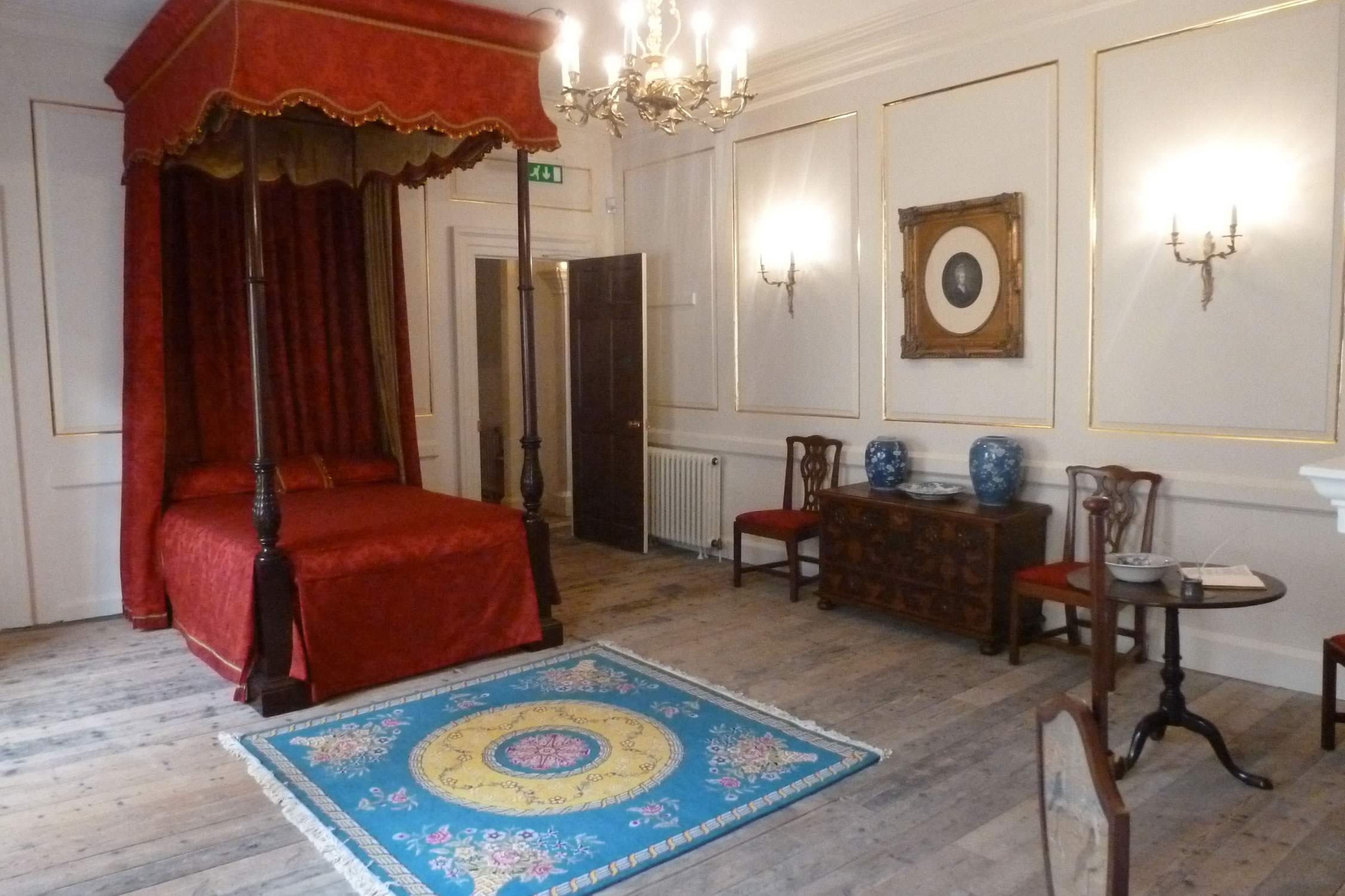Lady Stepney's C18th Bedchamber, for Llanelly House, Carmathenshire
