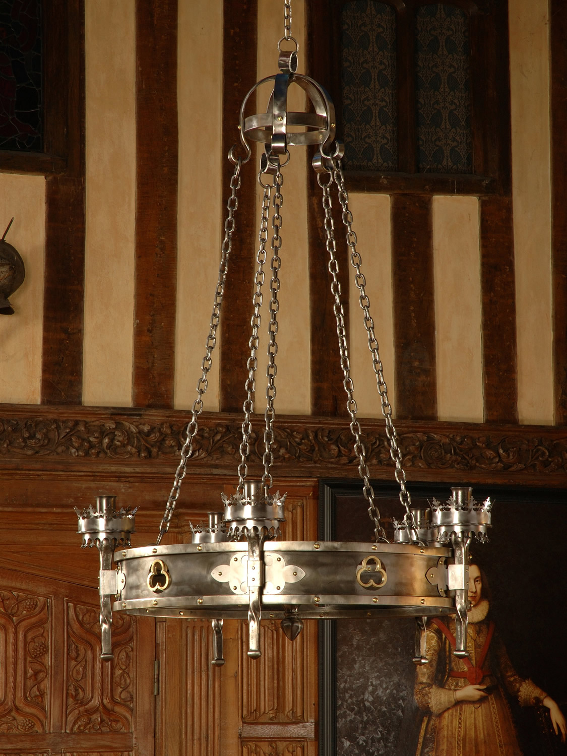 Single Tier Gothic Trefoil Chandelier