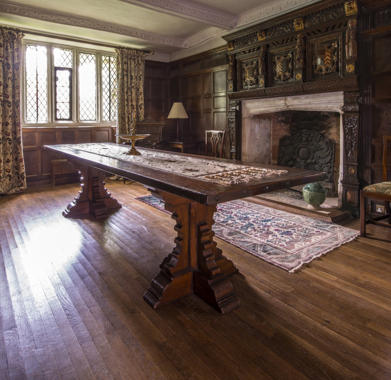 Medieval Cruciform Table in the Dining Room