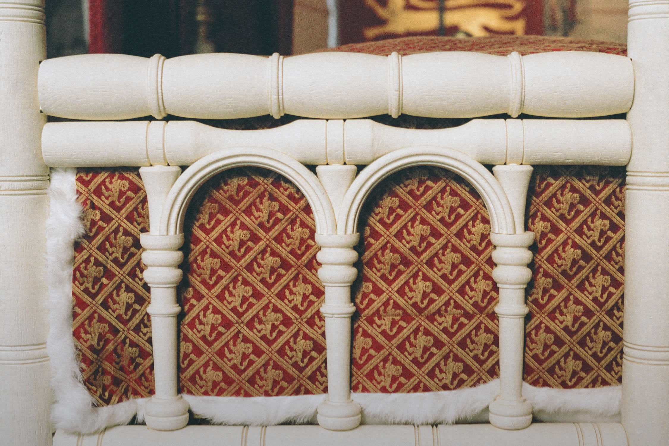 King Edward I's Medieval Tester Bed, detail