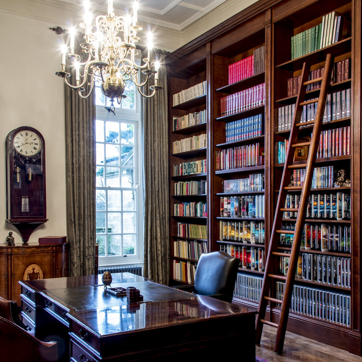 Classical style oak Library
