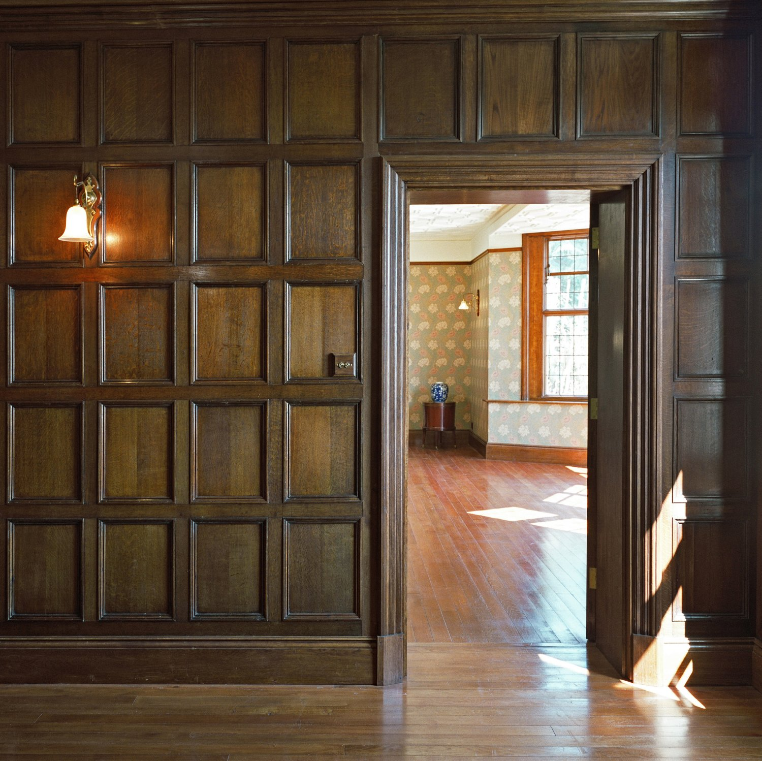 Oak panelling in the Entrance Hall