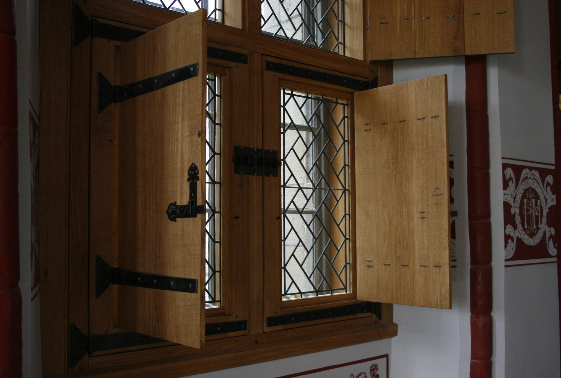 Solid oak shutters in the Renaissance Palace