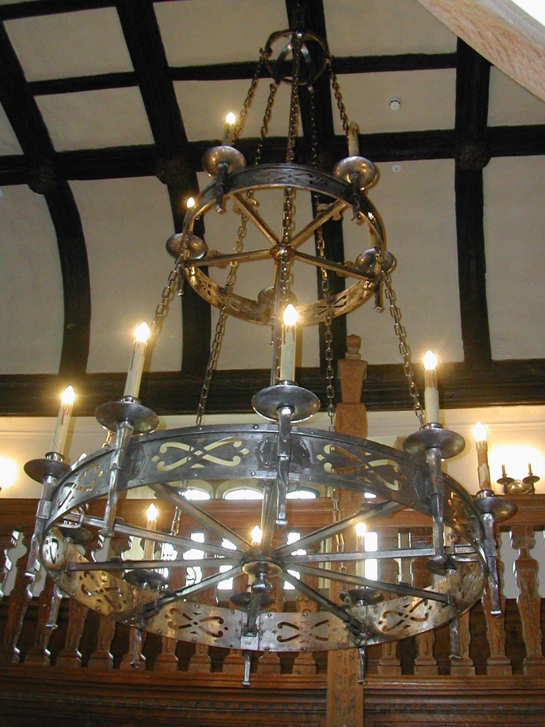 Barrington Double Tier Chandelier in Iron