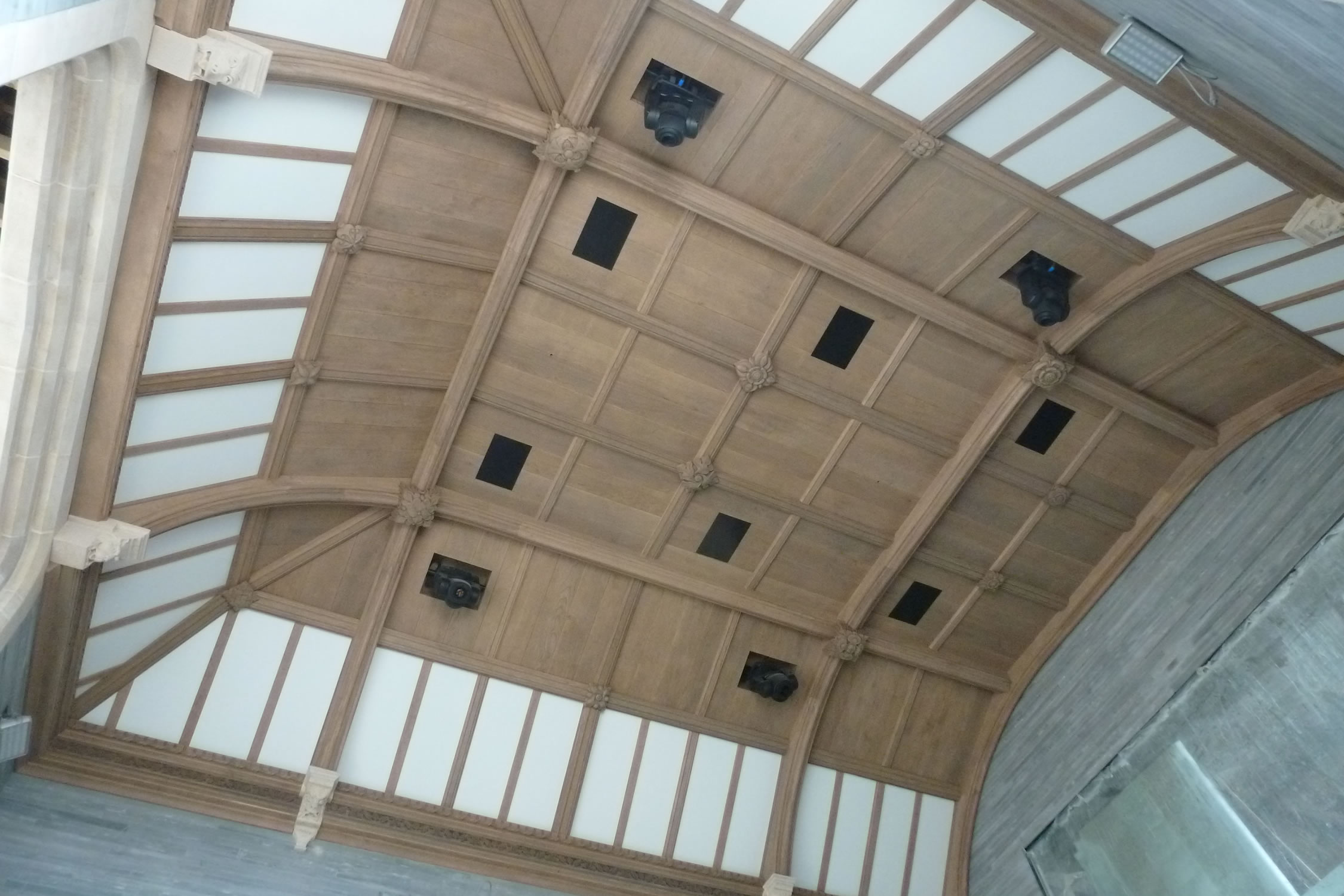 Arts & Crafts oak ceiling for a private pool room