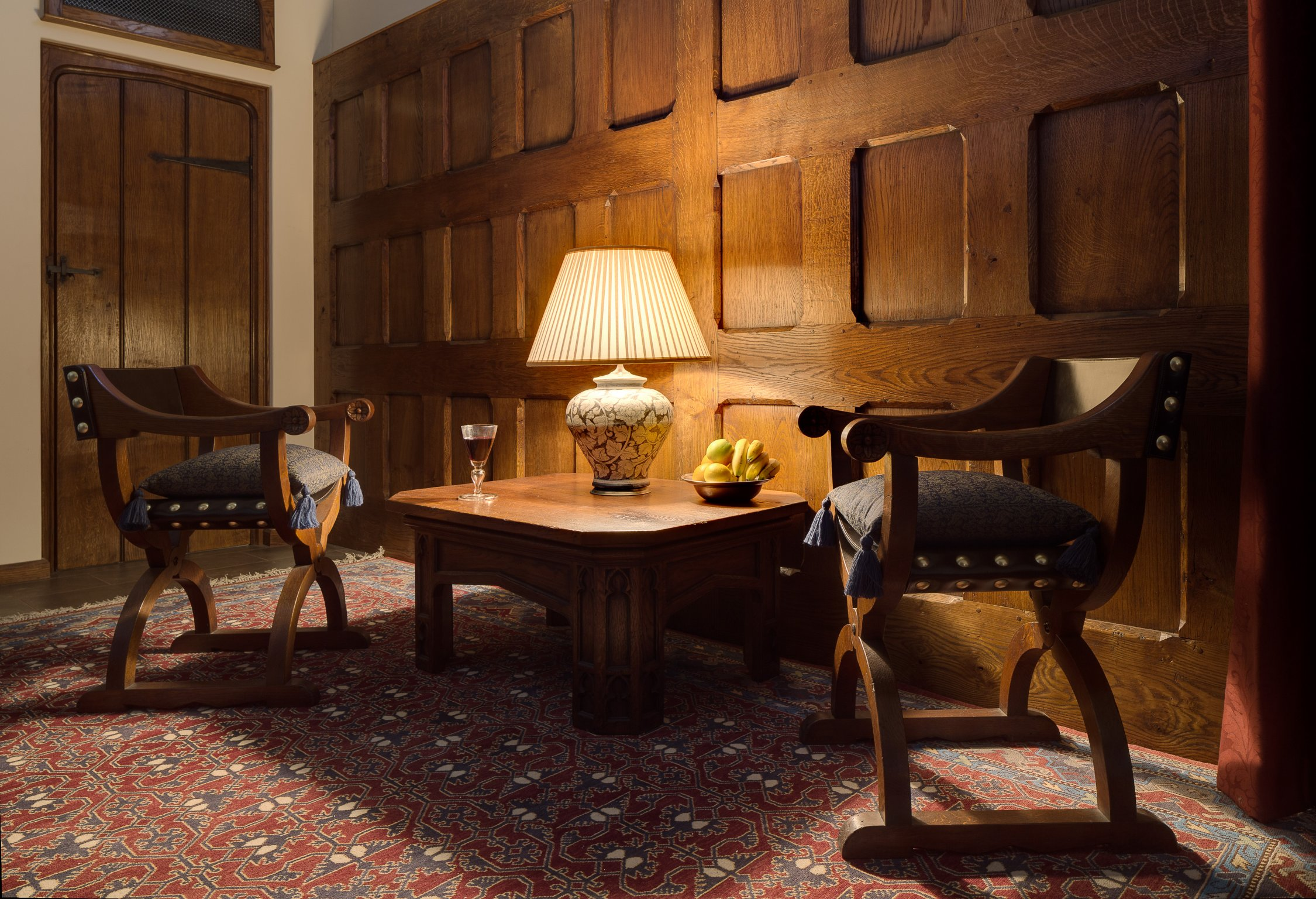 Solid oak panelling and furniture for the Great Hall