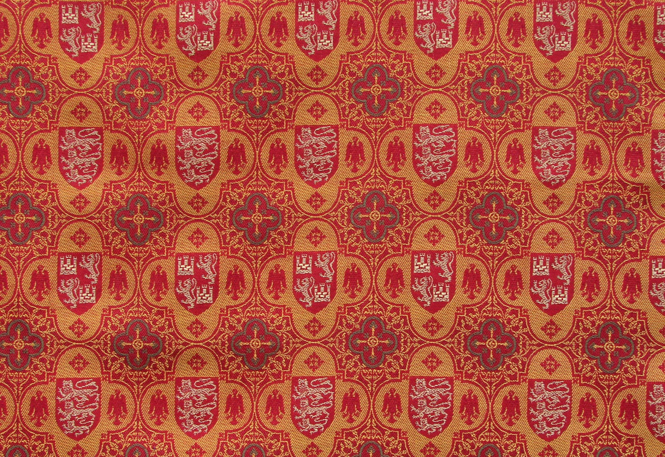 Specially designed and woven textiles - 'Heraldic Quatrefoil'