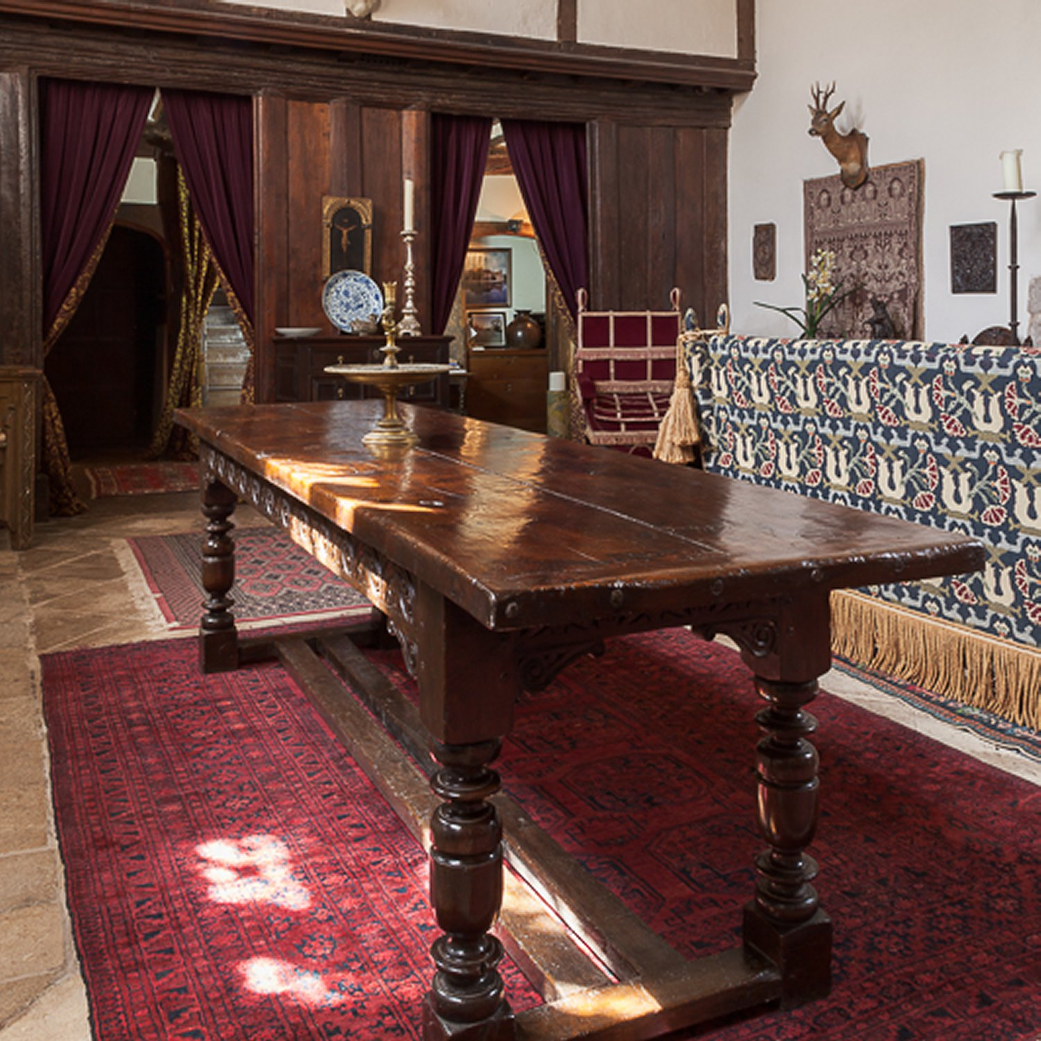 Charles I Dining Table in the Great Hall