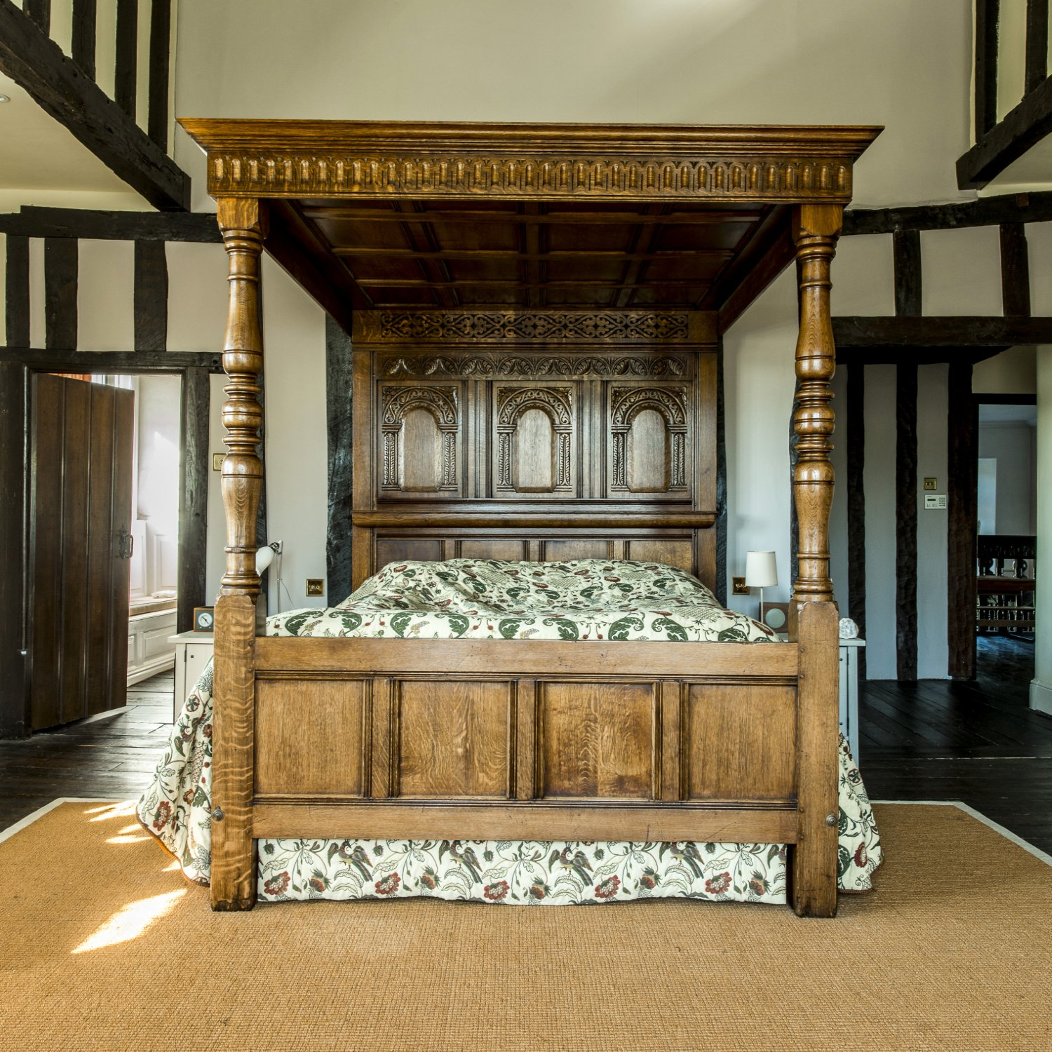 Charles I Oak Tester Bed for the Master Bedroom