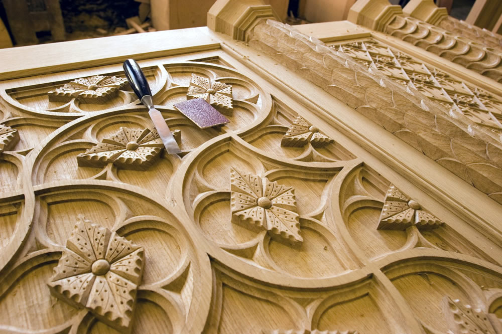 gothic stone beams ceilings stuart interiors