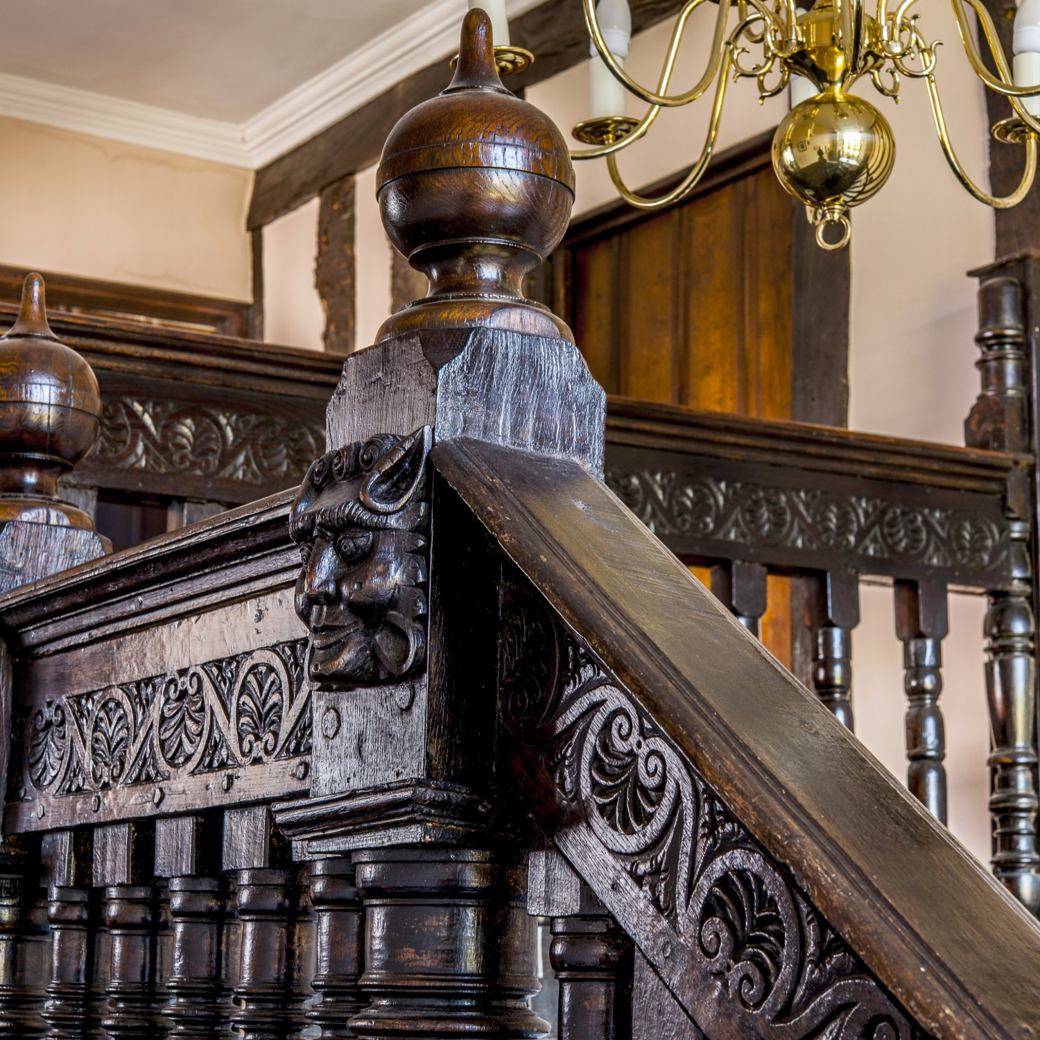 Restoration of the original late C16th staircase