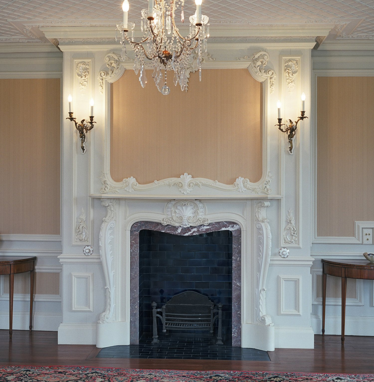 Restored fireplace in the Dining Room