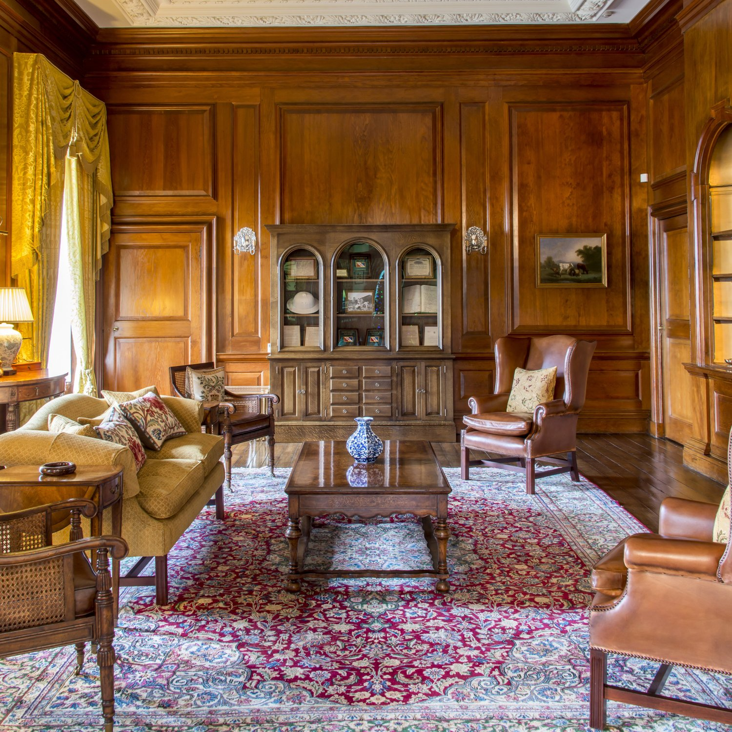 Furniture and furnishings in the Drawing Room