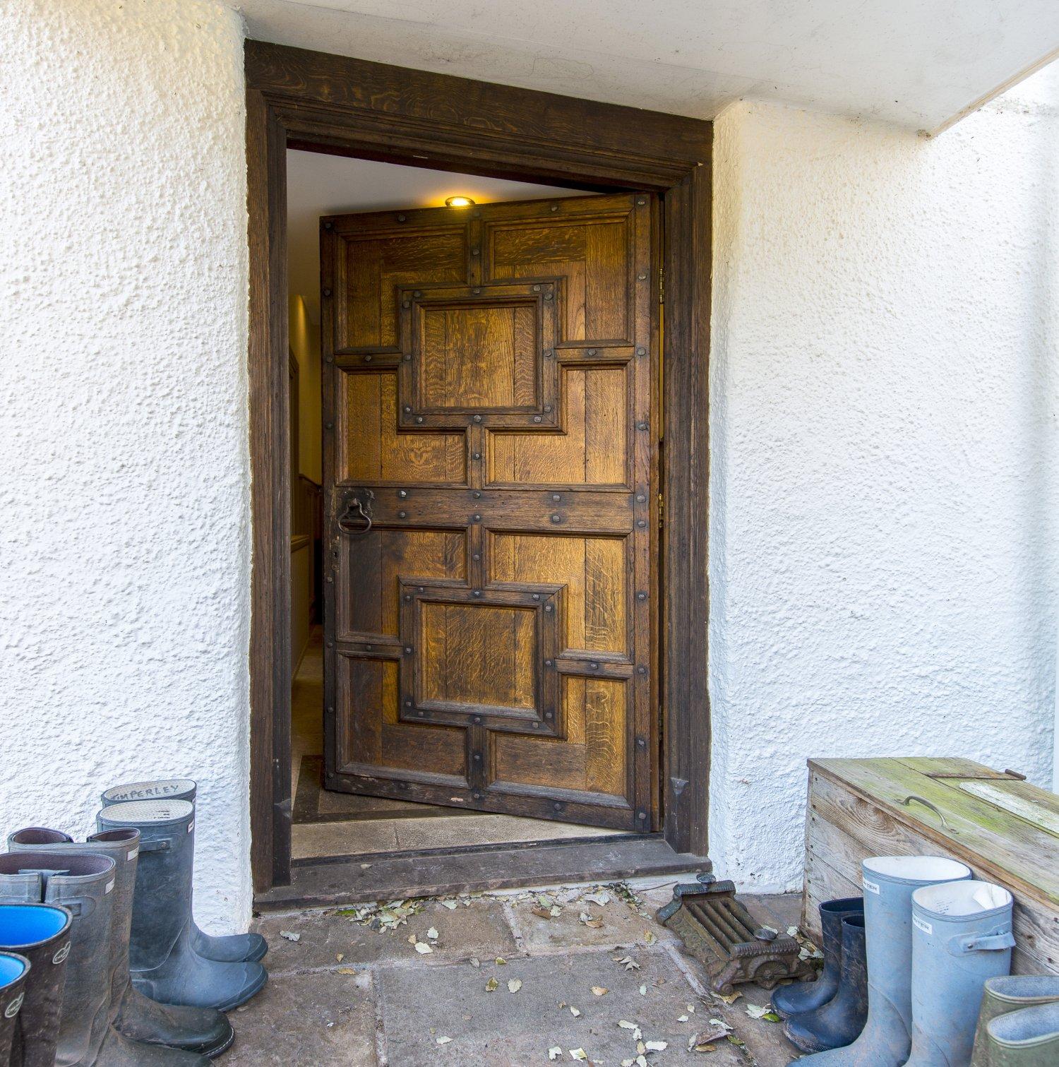 Soild oak, inner frame panelled, Front Door