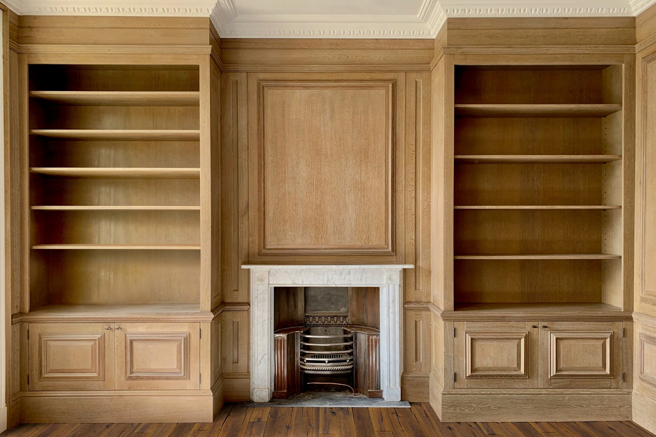 Bespoke Home Library, in Oak