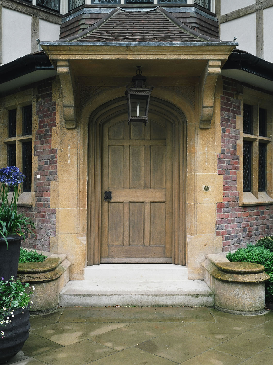 Soild oak entrance door for a private home in Oxfordshire