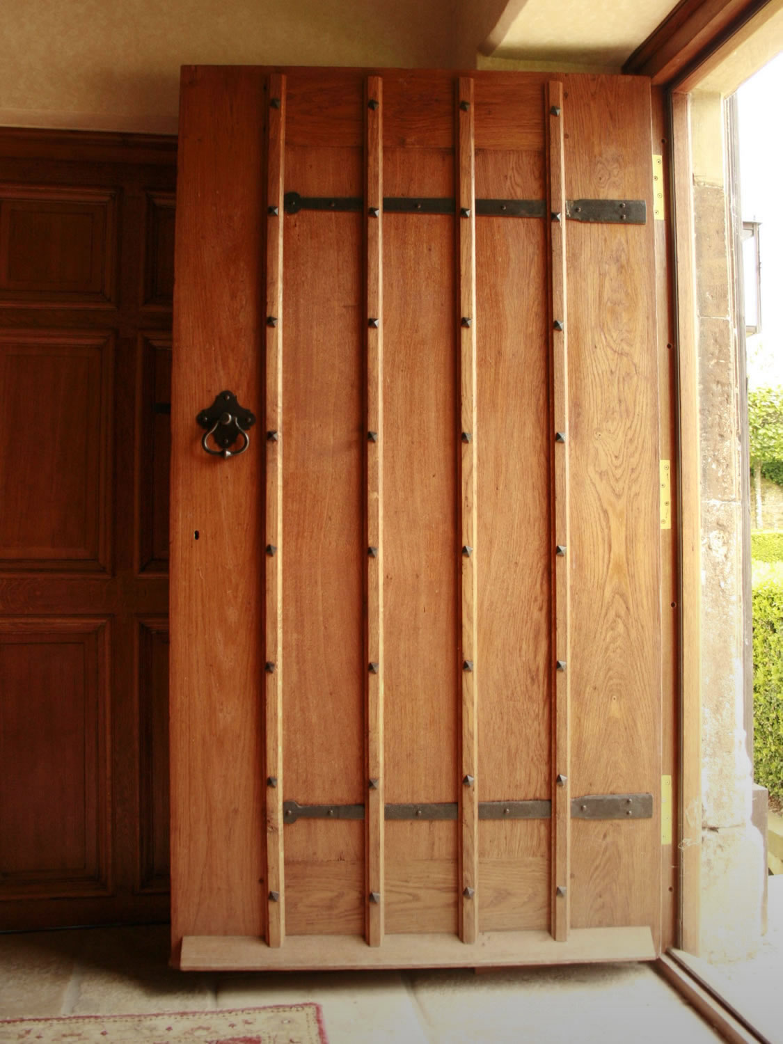 Soild oak front door for an Oxfordshire Manor