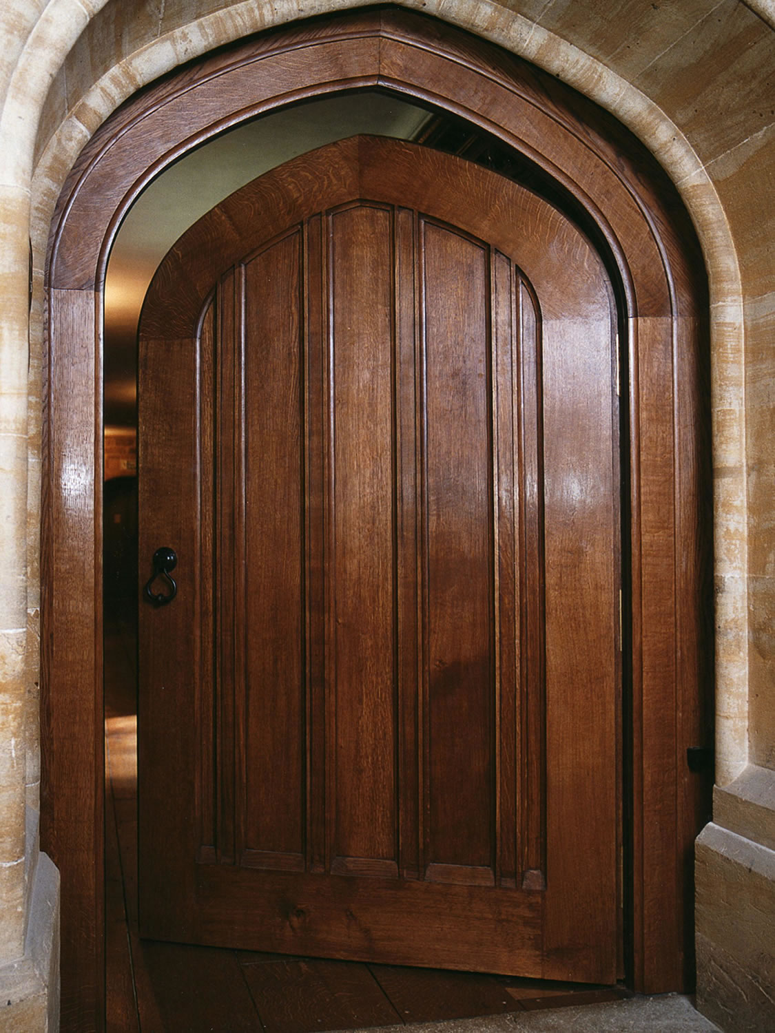 Main entrance door in solid oak