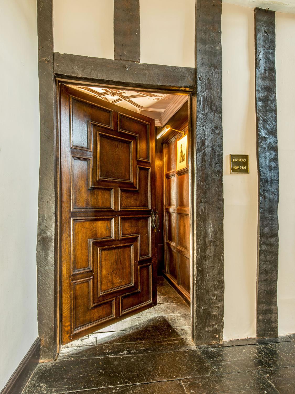 Inner-frame panelled soild oak internal door for a Devonshire Manor