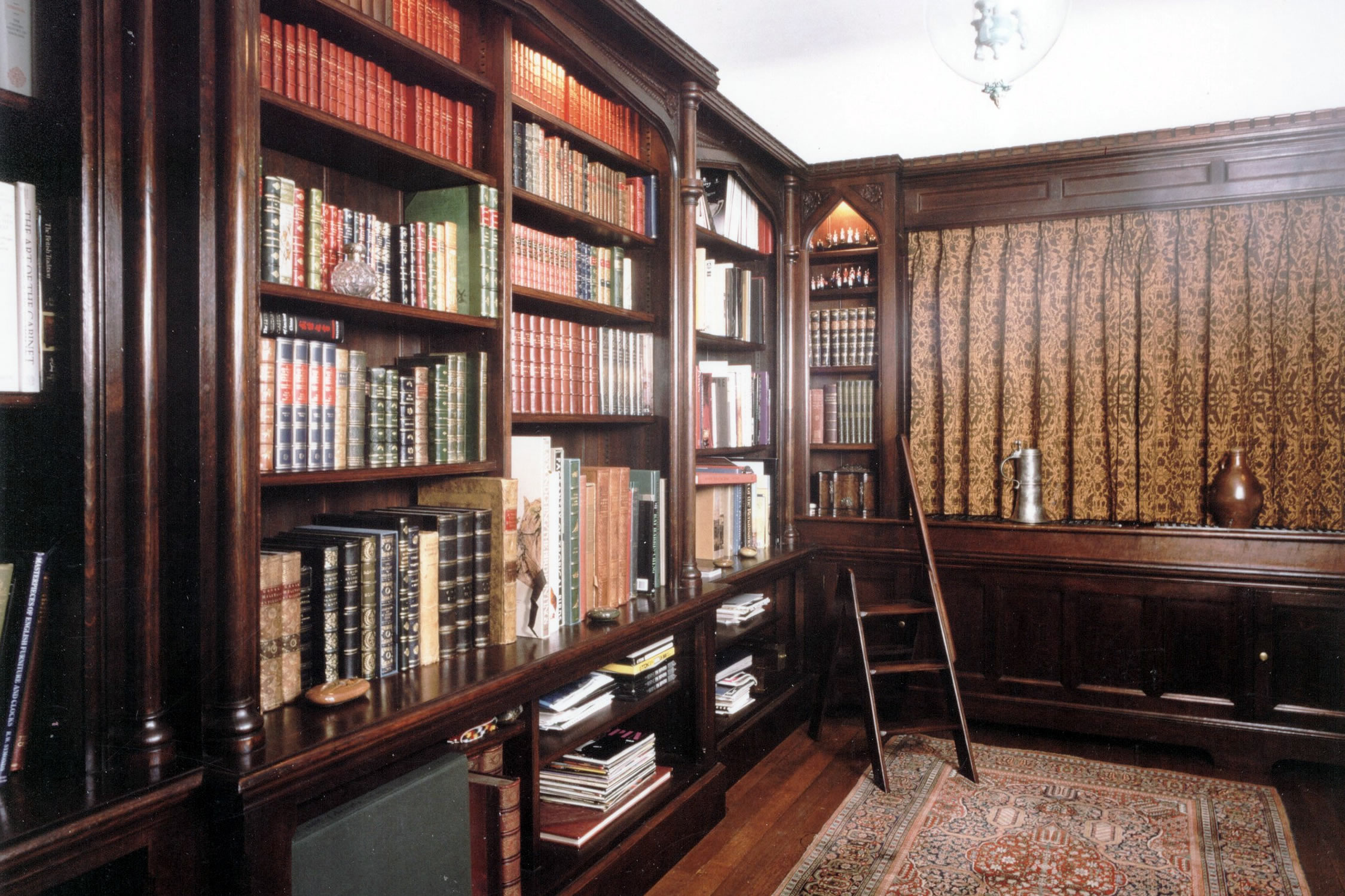 16th century style oak library
