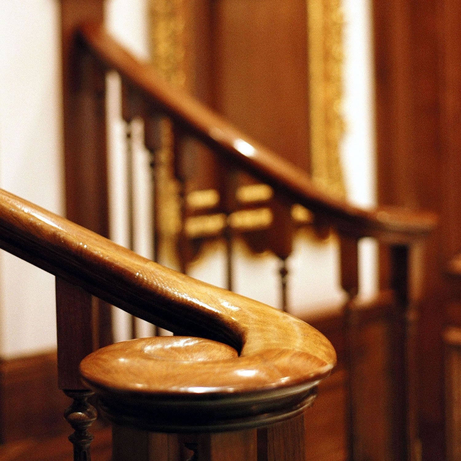 Classical monkey tail hand rail for a Georgian property in Central London
