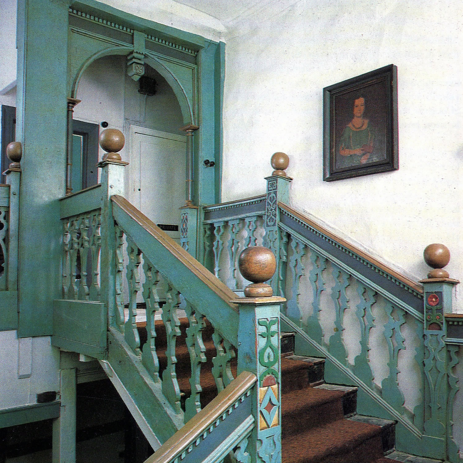 Restoration of this striking mid-C17th painted staircase in Wiltshire